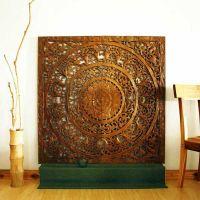 Wall Decor Teak Lotus Panel Thai home decor kanthaidecor ...