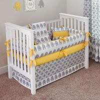 Ele Yellow - Crib Bedding Set Yellow curtains instead, and ...