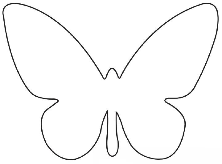FREE Printable Butterfly Template COLLAGE \ SCRAPBOOKING - butterfly template
