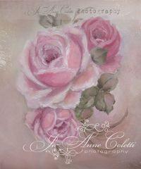 April Canvas Print-shabby chic roses, vintage rose ...