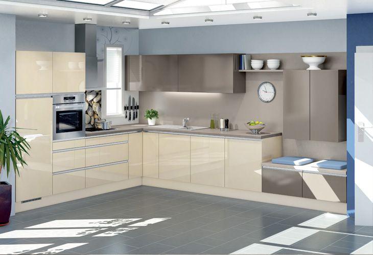 Küche in Creme \/ Kitchen in beige BEIGE \/ CREME Pinterest - beige kuche