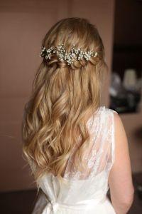 Braids half up half down wedding hairstyle | Partial updo ...