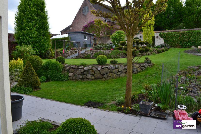 Steinmauer Garten Pinterest Steinmauer, 10 jahre und Besuchen - gartengestaltung hanglage