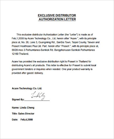 authorization letter sample examples word pdf why purchase polycom - authorization letters sample