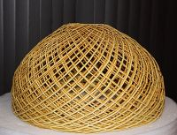 Vintage Woven Rattan, Wicker Lamp Shade, Gorgeous Light ...