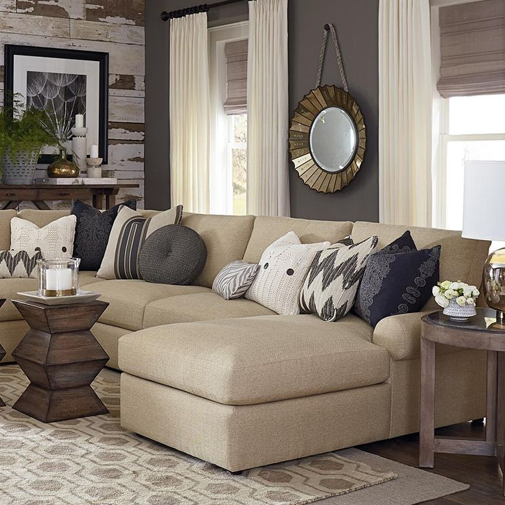 How to Layer Texture into a Space Opals, Layering and Group - beige couch living room