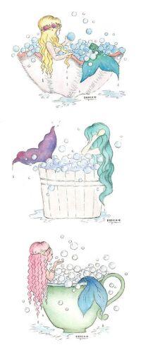 Bubble Bath Mermaid Art | Mermaid bathroom decor, Mermaid ...