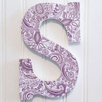 """Purple Paisley 9"""" Letter S, Letter Wall Art, Hanging ..."""