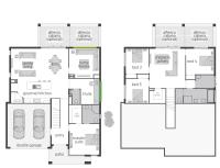 The Horizon Split Level floor plan by McDonald Jones. #