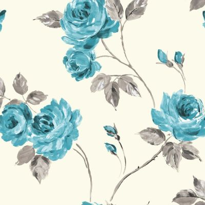 Teal and Pink Flower Backgrounds   floral teal ewp04018 contemporary floral a silk with feature ...