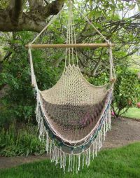 Vintage Macrame Hammock Swing Chair 1970s by JBHoffman on ...