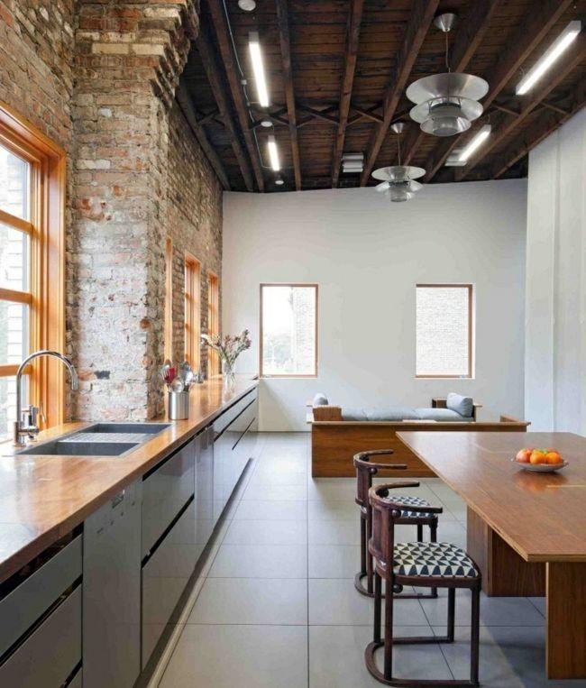 Innovative Use of Warehouse Space Brooklyn Studio Renovation by - schmale fenster kuechen gestaltung