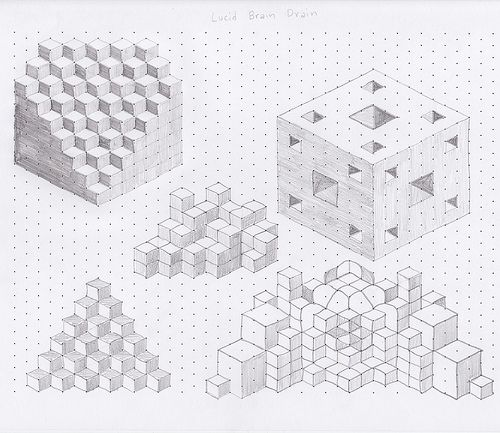 playing with isometric grid Drawing Pinterest Isometric grid - 3d graph paper