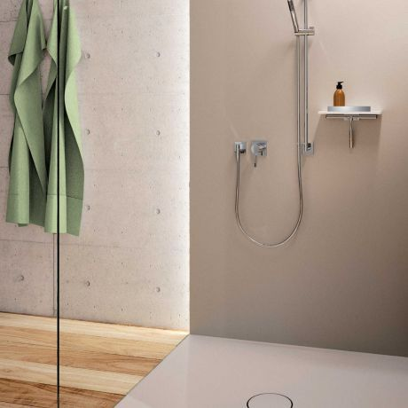 Giese Noka Dusch Konsole Duschablage weiß mit Haken und Wischer - badezimmer konsole