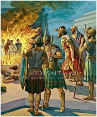 Three Hebrews in the fiery furnace Daniel 3 | Vintage ...