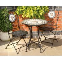 mosaic bistro table sets | Piece Tuscany Stone and Metal ...