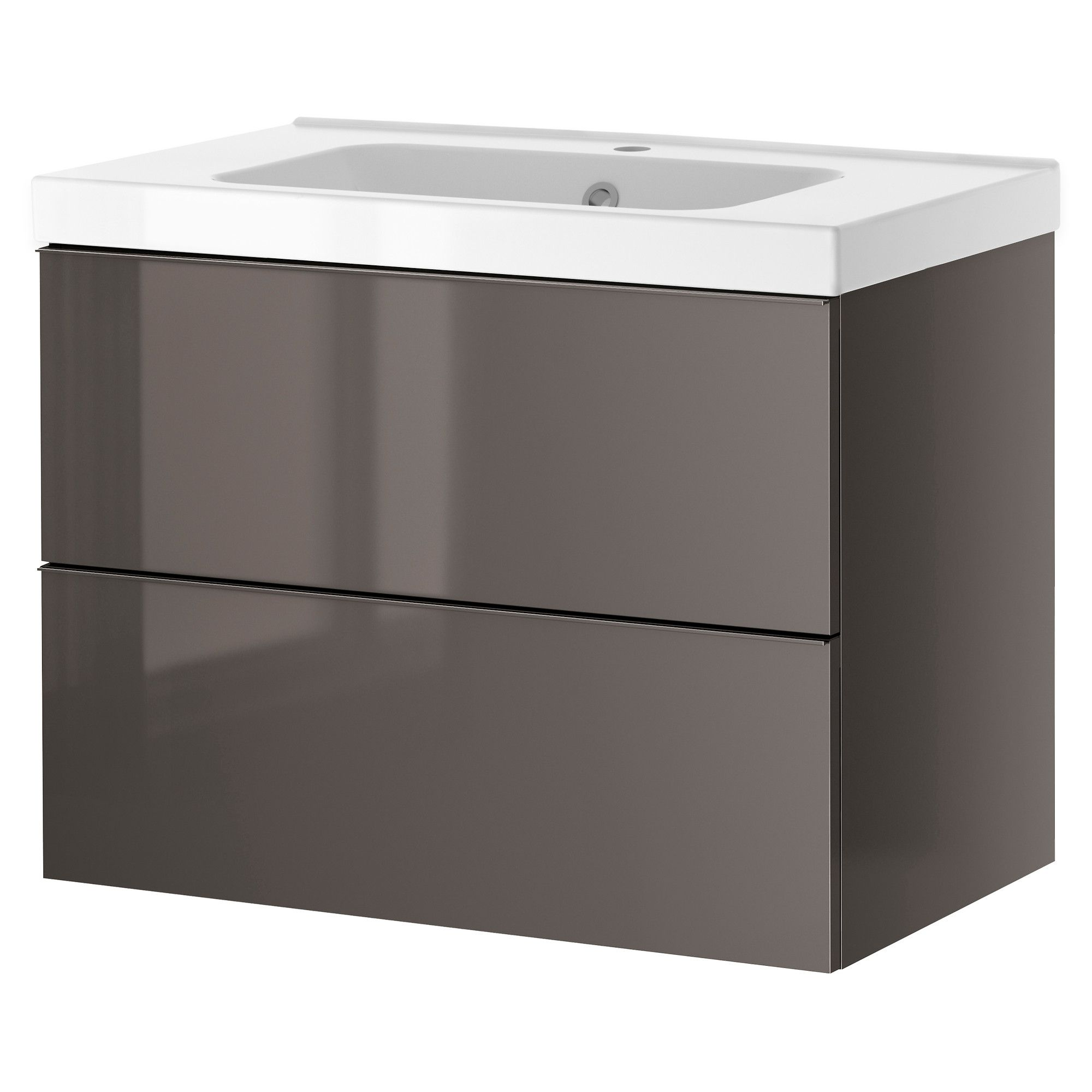 White Gloss Drawers Godmorgon Odensvik Sink Cabinet With 2 Drawers White