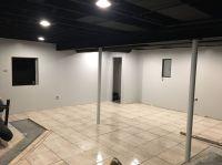 Exposed black dryfall basement ceiling, finishing basement ...