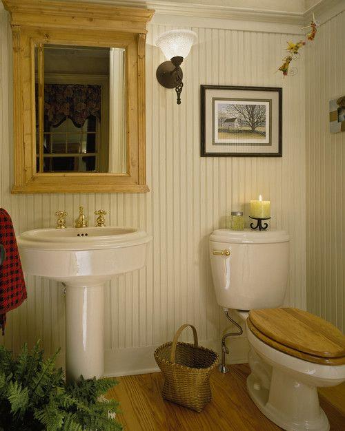 Whole wall in beadboard w\/ crown molding Bathrooms Pinterest - beadboard bathroom ideas