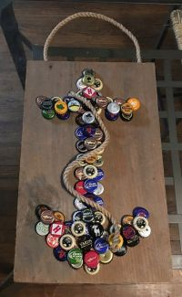 Anchor Bottle Cap Wall Hanging by LucySkyDesigns on Etsy ...