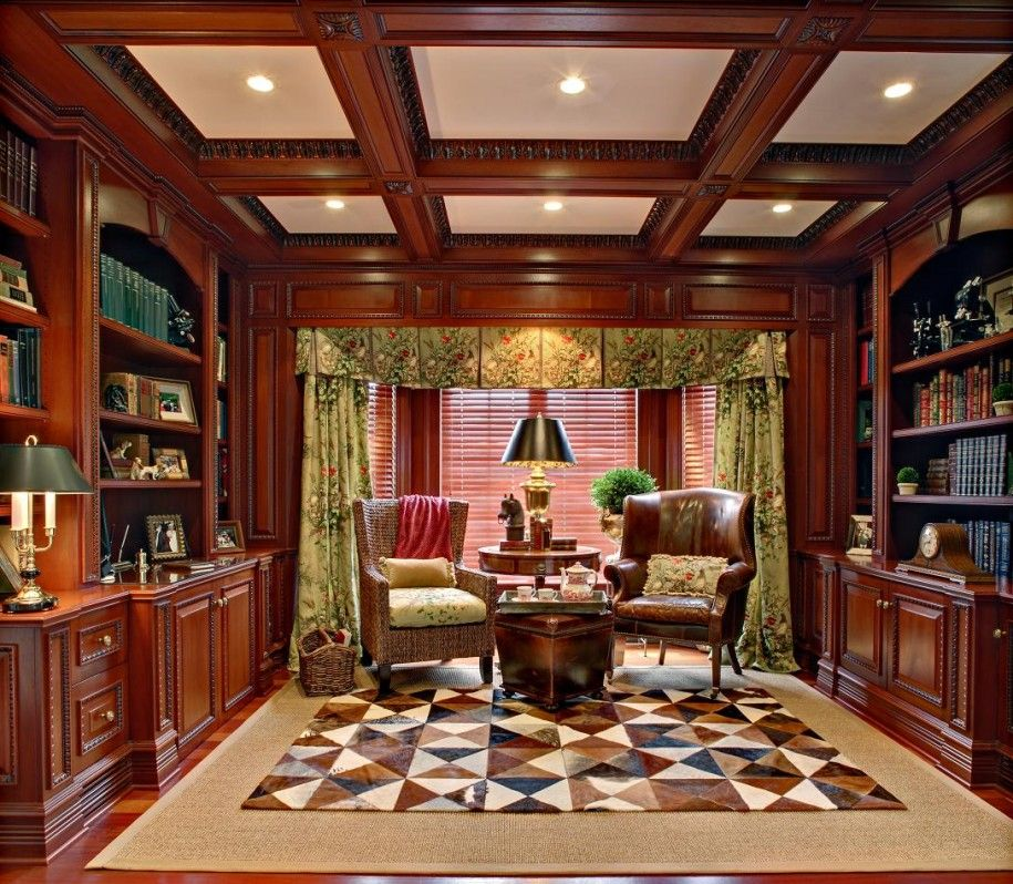 Modern Home Library Design with Simple Lines and Elements - home library design