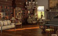 Amusing Peru Gothic Interior Design Sweet Library Living ...