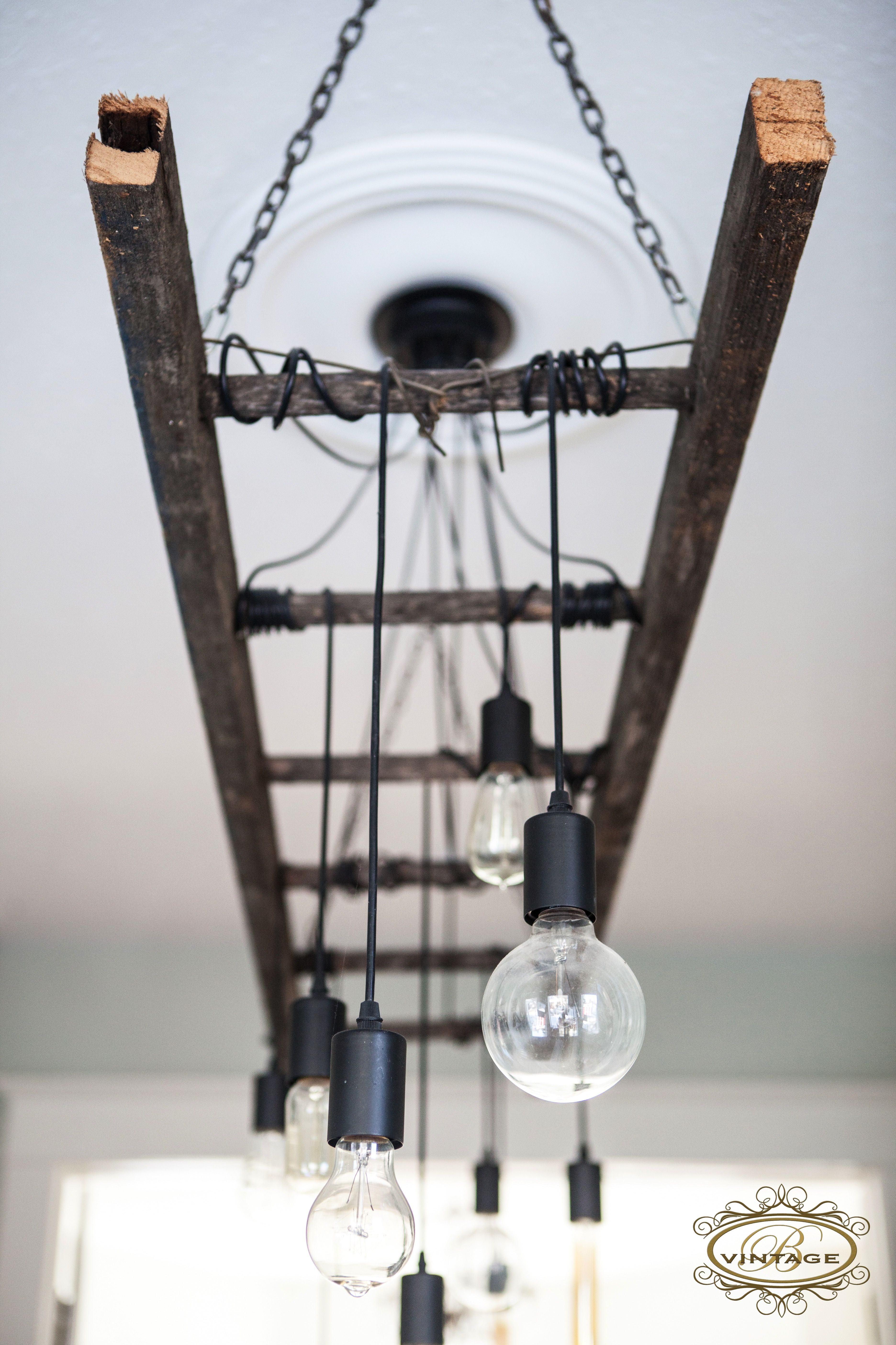 Industrial Vintage Lighting Edison Chandelier Edison Bulb Ladder Light Industrial