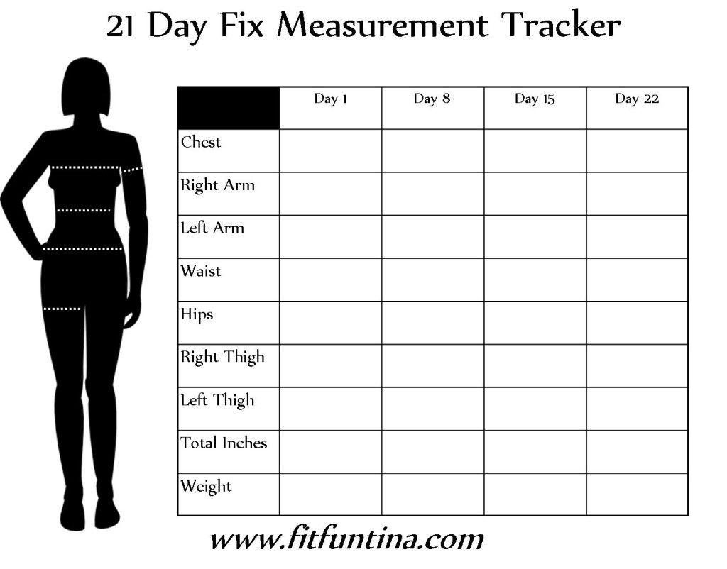 beachbody measurement tracker
