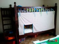 Bunk bed tent - Think I'm going to do this with batman ...