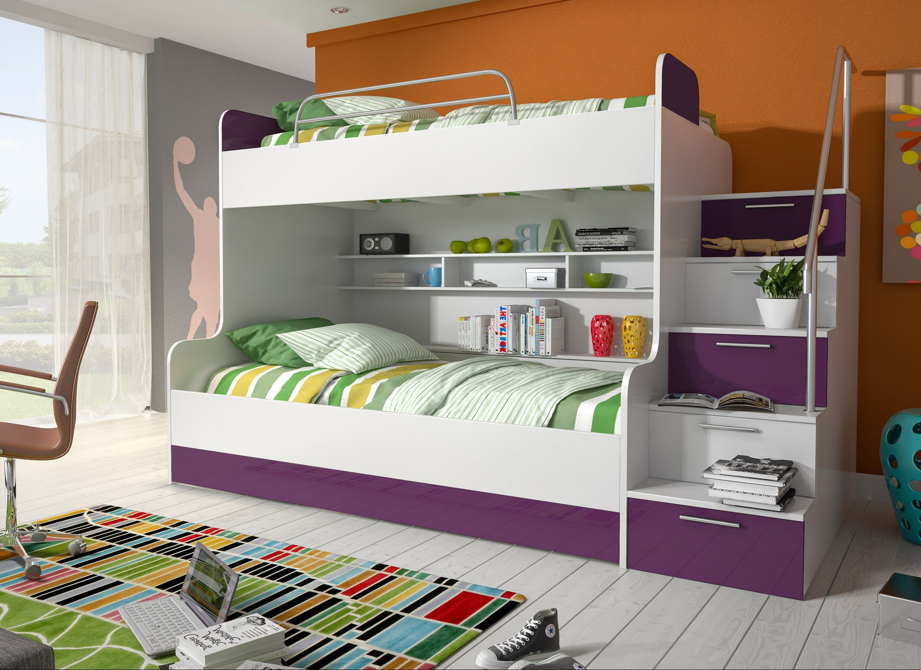 Jugendzimmer Jungen Etagenbett : Jugendzimmer jungen mit hochbett etagenbett kinderzimmer vita