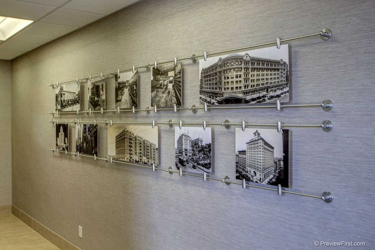 Construction Office Decorating Ideas Custom Art Display Shows 100 Years Of Companies History