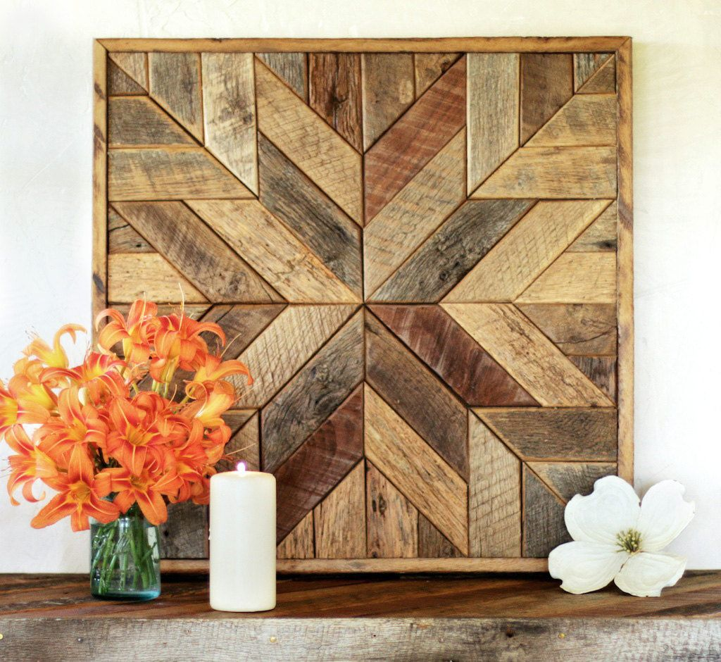 Barn Wood Art Ideas Sticker Bois Star Quilt Block Rustique Bois Par
