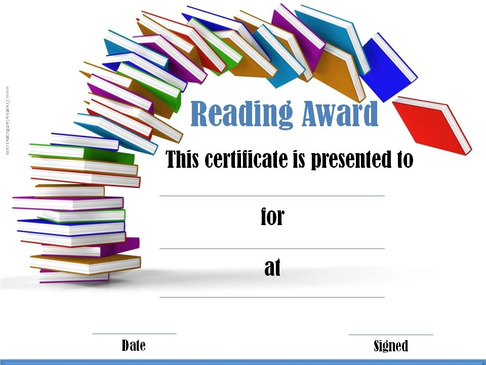 Free Printable Reading Certificate Templates PtP6k8Ux - free printable editable certificates