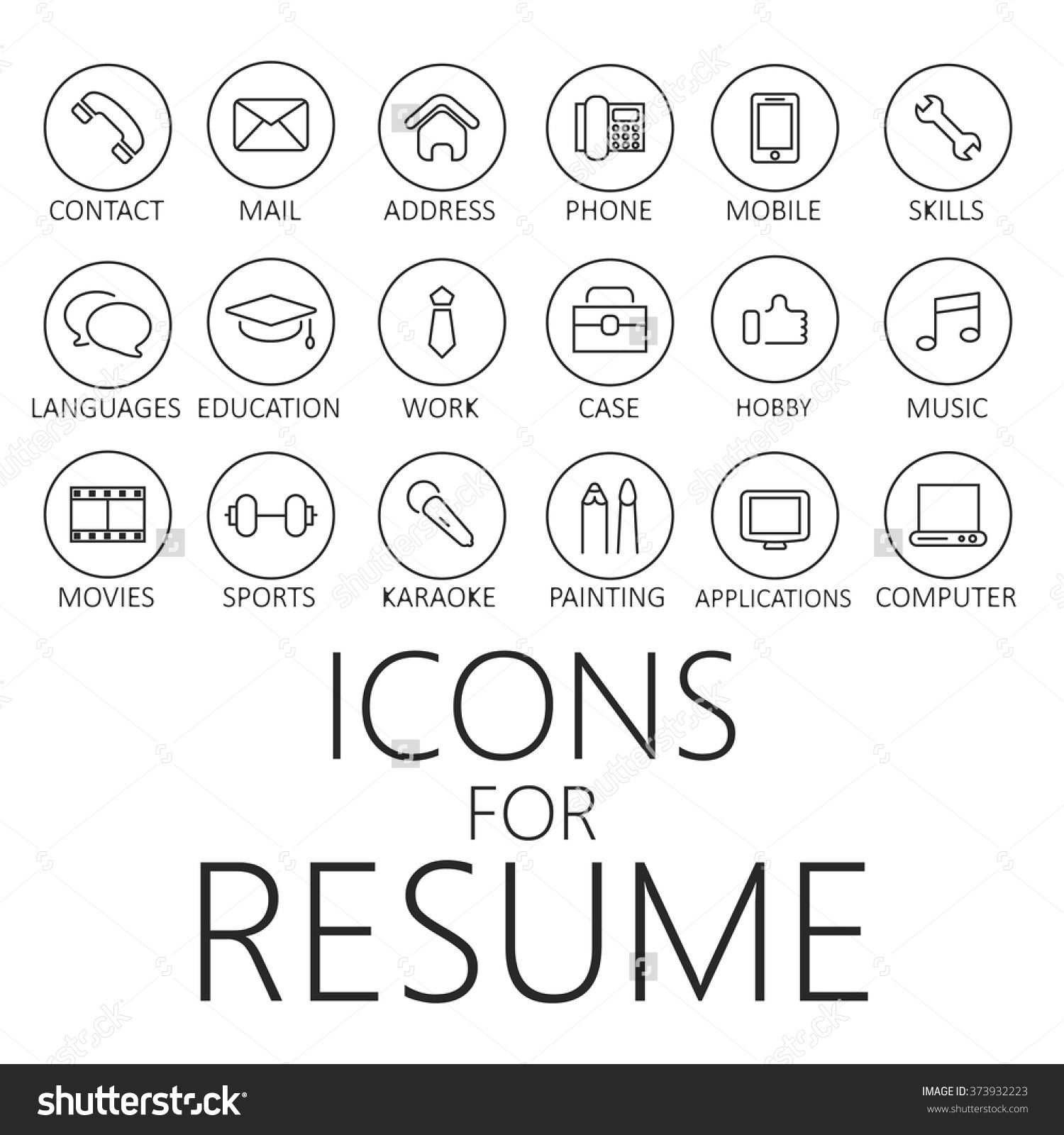 icone case job cv