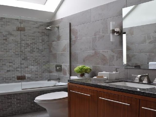 20 Refined Gray Bathroom Ideas Design and Remodel Pictures Black - gray and white bathroom ideas