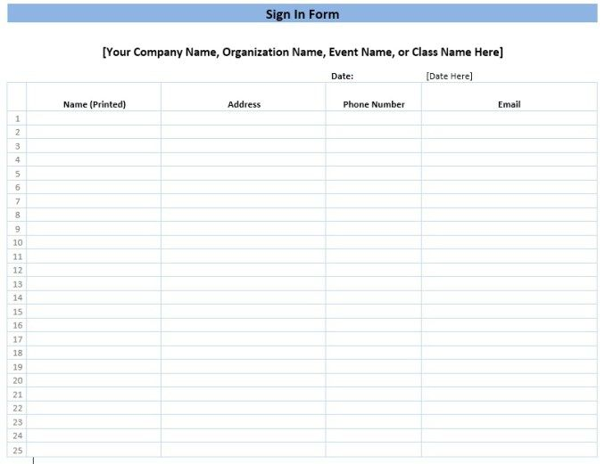 Meeting Attendance Sheet Stationary Templates Pinterest   Meeting Sign In Sheet  Templates