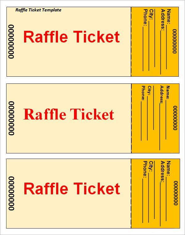 Raffle-Ticket-Template u2026 Pinteresu2026 - free ticket template printable