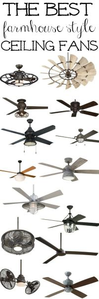 The best Farmhouse Ceiling Fans | Industrial style ...