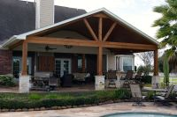 Gable Roof Patio Cover in Remington Trails Katy | Gable ...