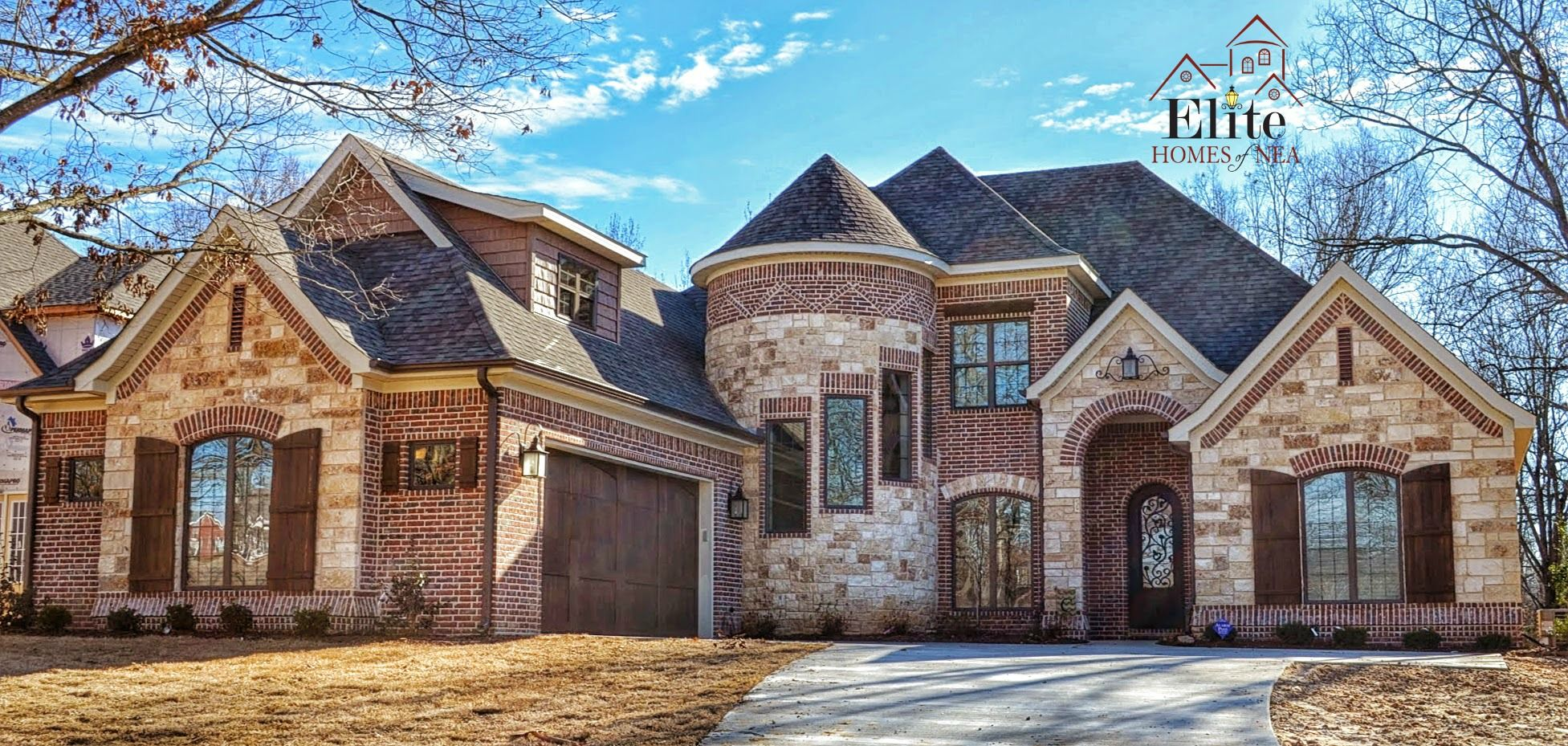 Brick And Stone Exterior Combinations French Country Exterior With Turret Beautiful Brick And