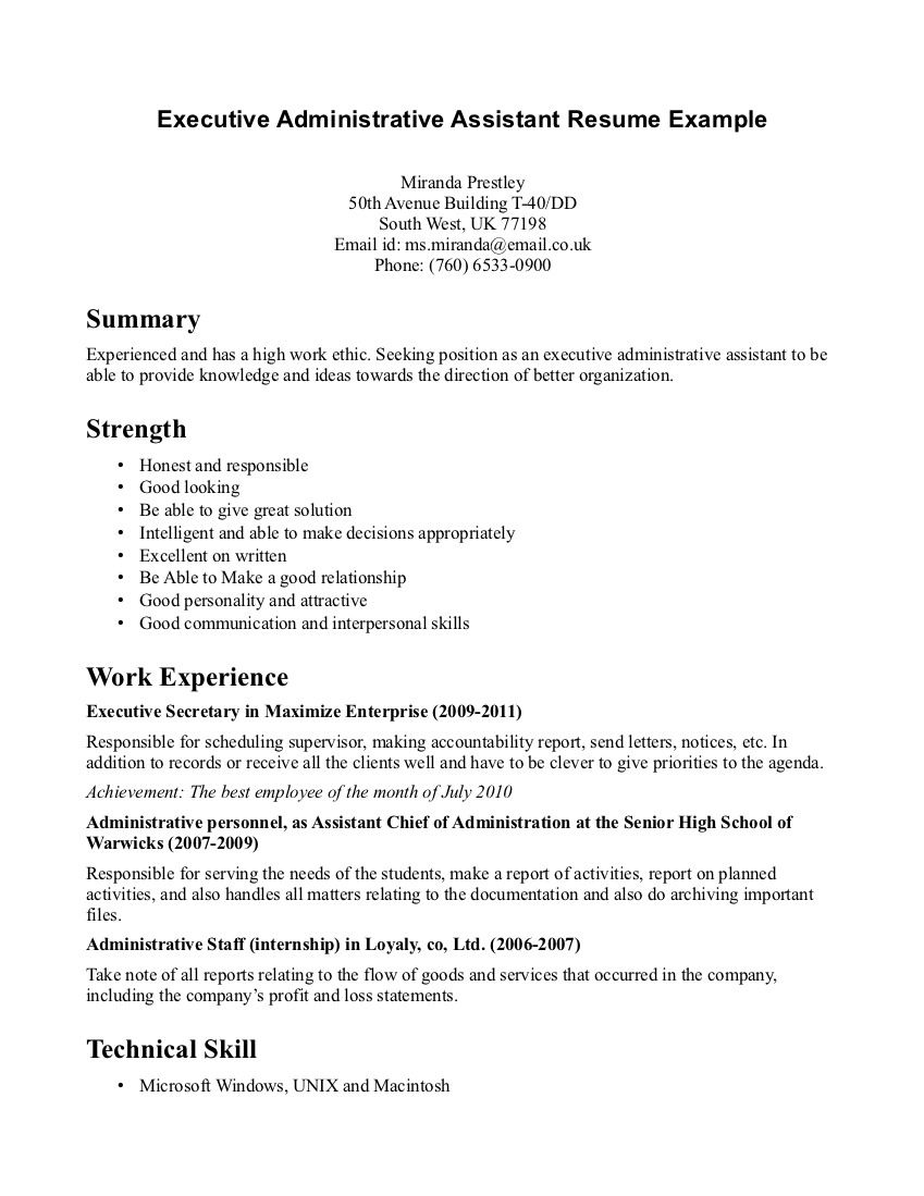 resume office meaning