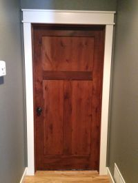Rustic alder doors with white casings and trim   My Lake ...
