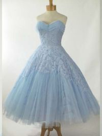 Retro Vintage Style 50s Tea Length Bridesmaid Prom Party