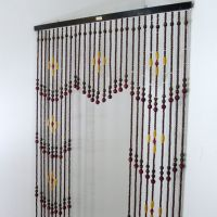 Vintage Wooden Bead Curtain, Beaded Curtain, Room Divider ...