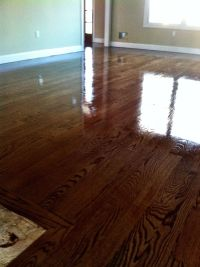High gloss special walnut stain | RC Flooring Work ...