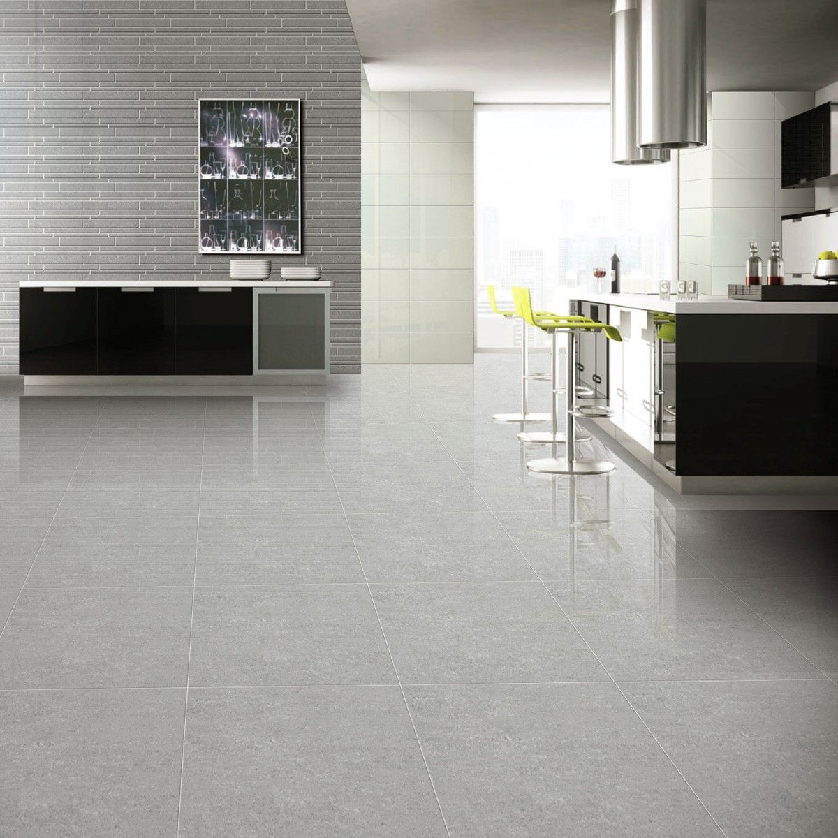 Kitchen Floor Tile Gray 60x60 Super Polished Grey Porcelain Floor Tiles Tile