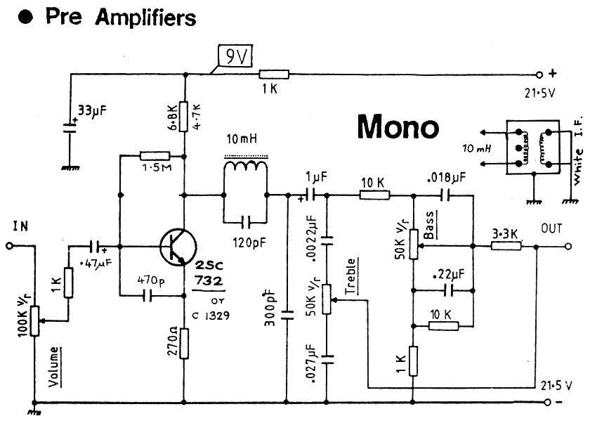 tube mic pre amp circuit diagram