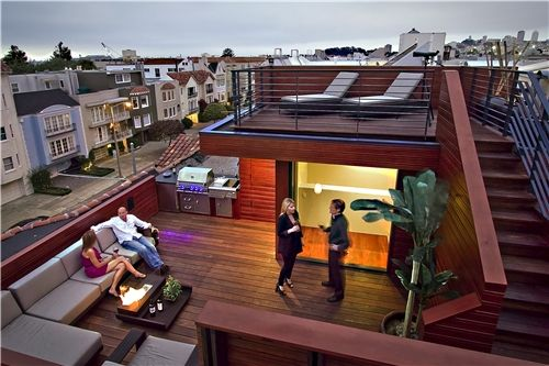 78+ Images About Rooftop Decks On Pinterest | Terrace, Planters