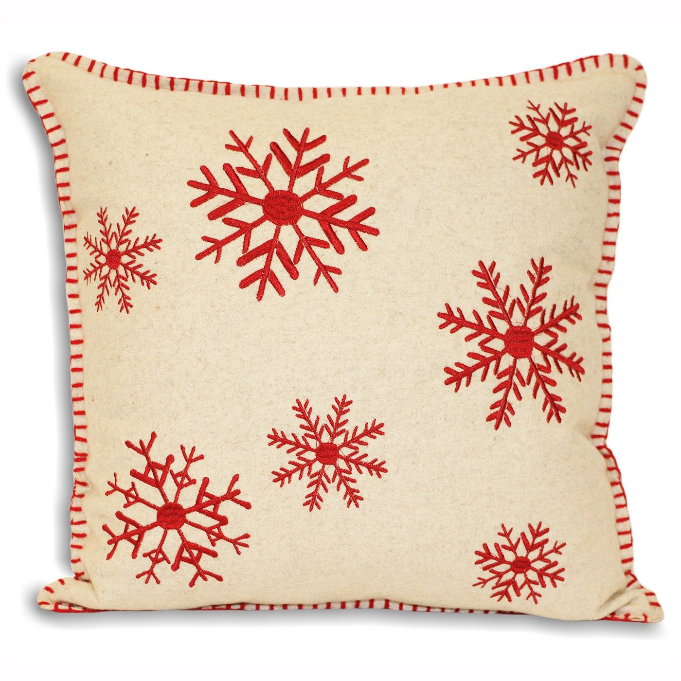 Cushion Covers Christmas Cushions Square Christmas Cushion Cover Red Snowflake