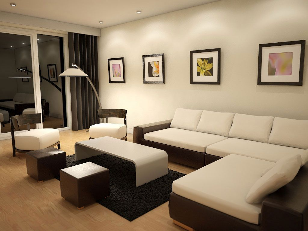 Beauteous living room paint idea with white wall paint color and two tone l shaped
